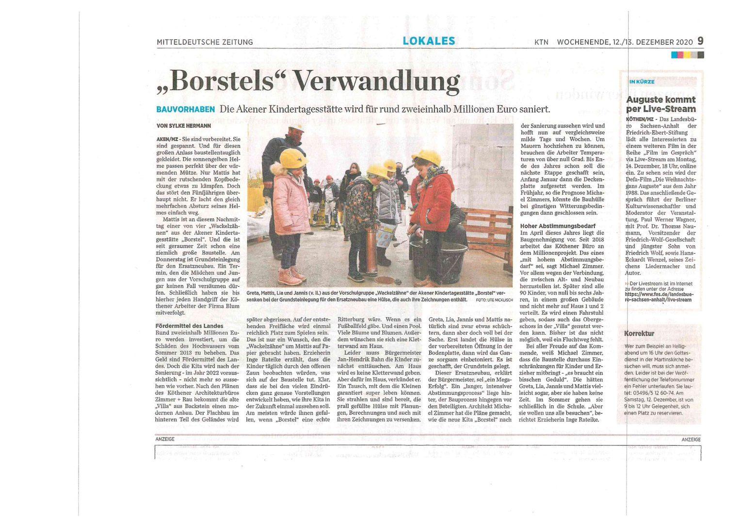 20201212_Kita Borstel Grundsteinlegung